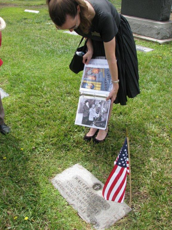 Karie points our WWi and WWII veteran Walter Long