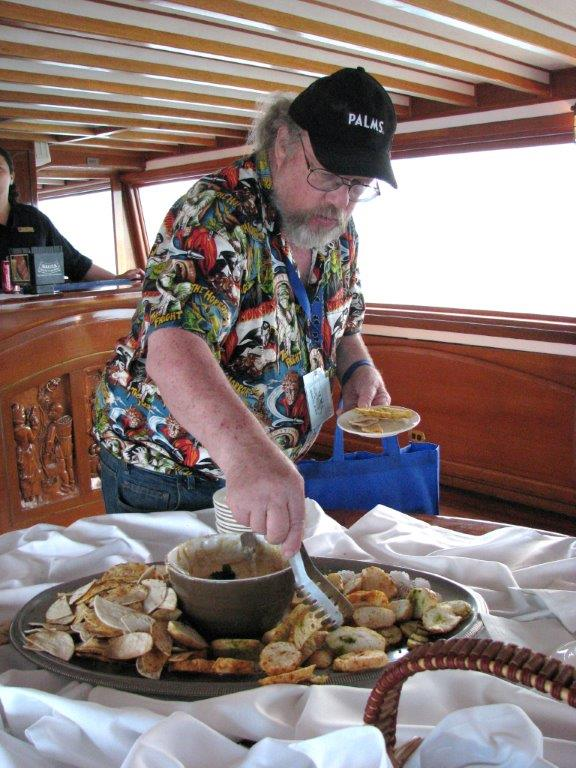 Eric Caidin enjoys the food on the main deck. Eric was the founder of Hollywood Book and Poster and sadly passed away on May 18 of this year. Eric told me after the convention that this was the best convention he had ever been to. It meant so much to me coming from him since he attended so many conventions for so many years. Thanks Eric!