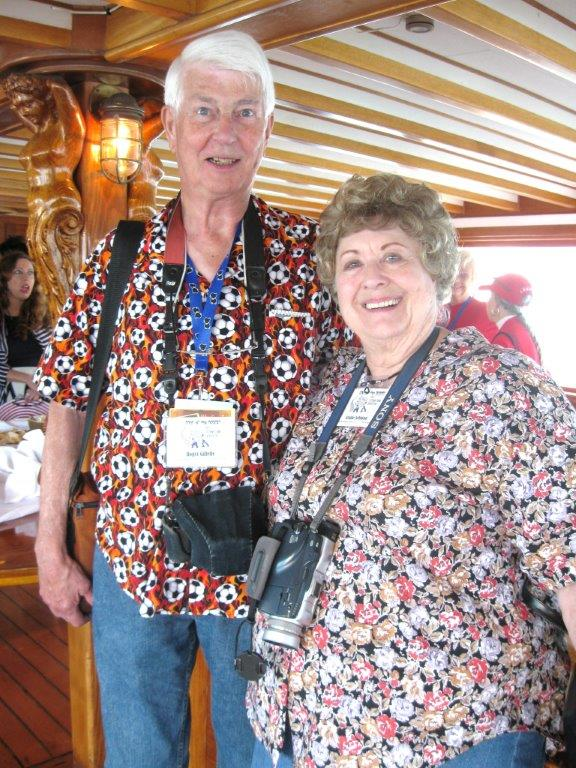 Roger Gillette and the late Elaine Johnson enjoy the comfort of the Wild Goose.