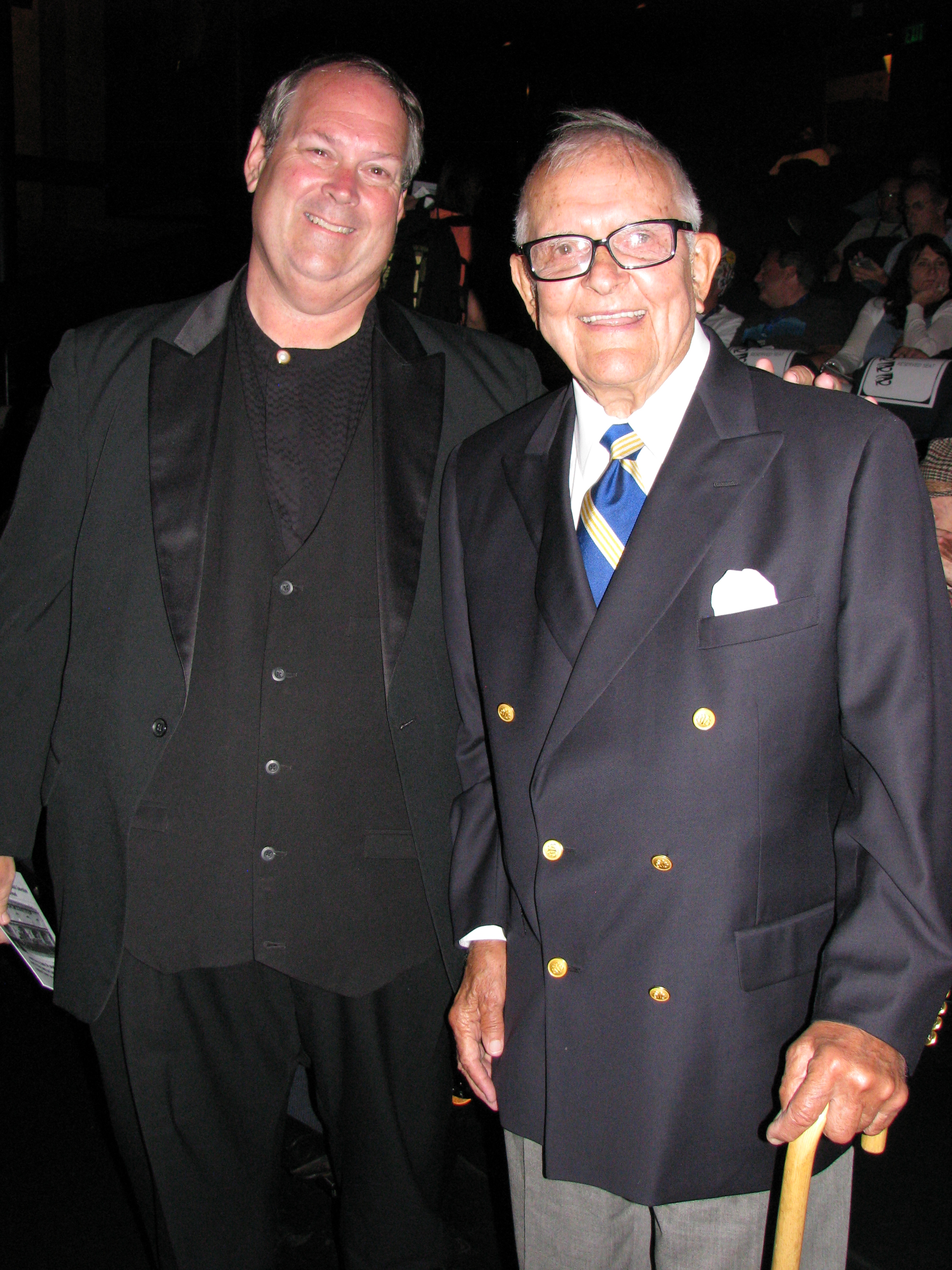 Opening Night at the Egyptian Theater and the stars would begin to arrive.  I got to greet long time LA TV personality Tom Hatten who would show L&H and Our Gang on his shows.