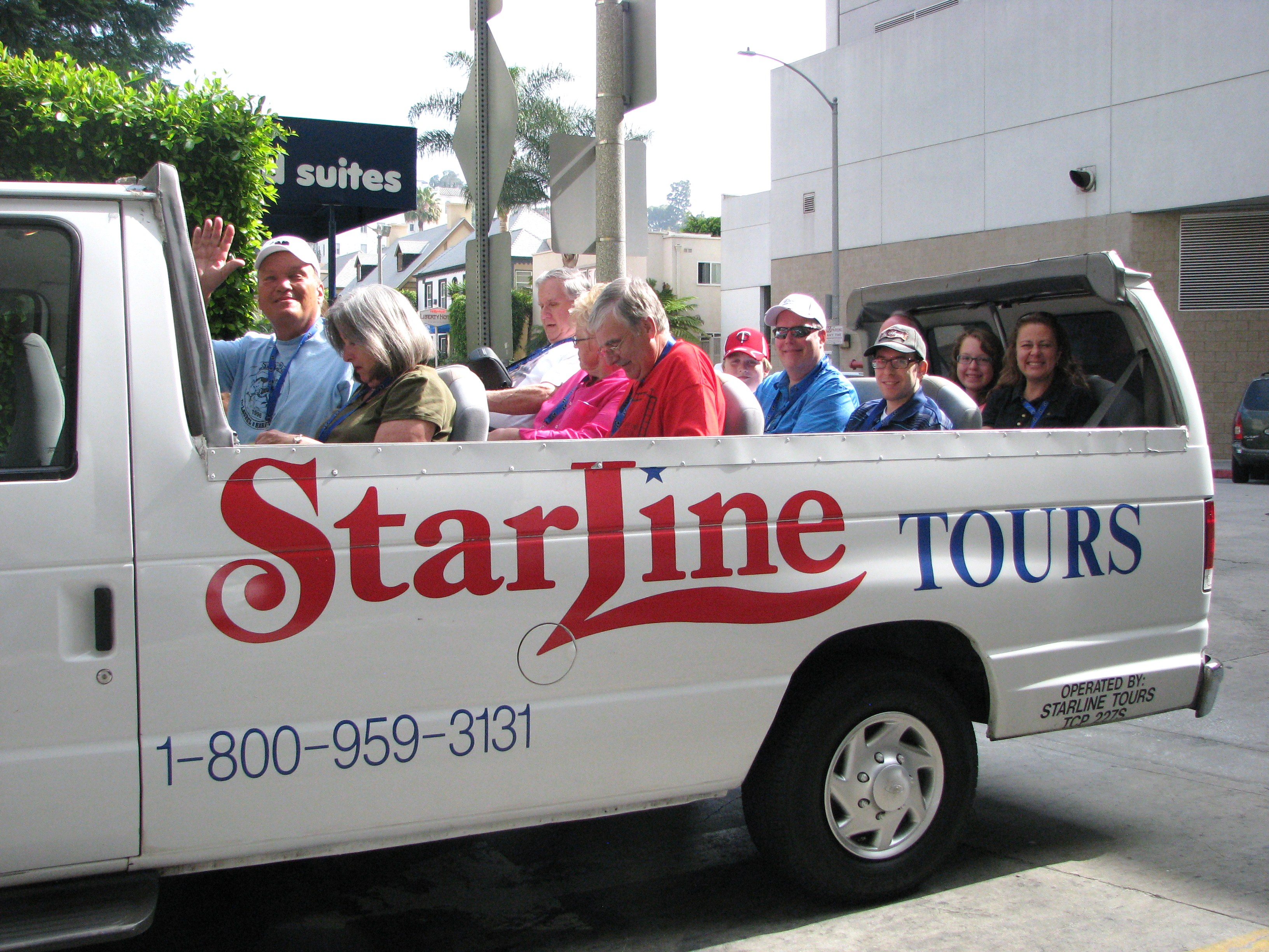 The mini-vans were loaded and ready for the trip through Beverly Hills, Cheviot Hills and Culver City.