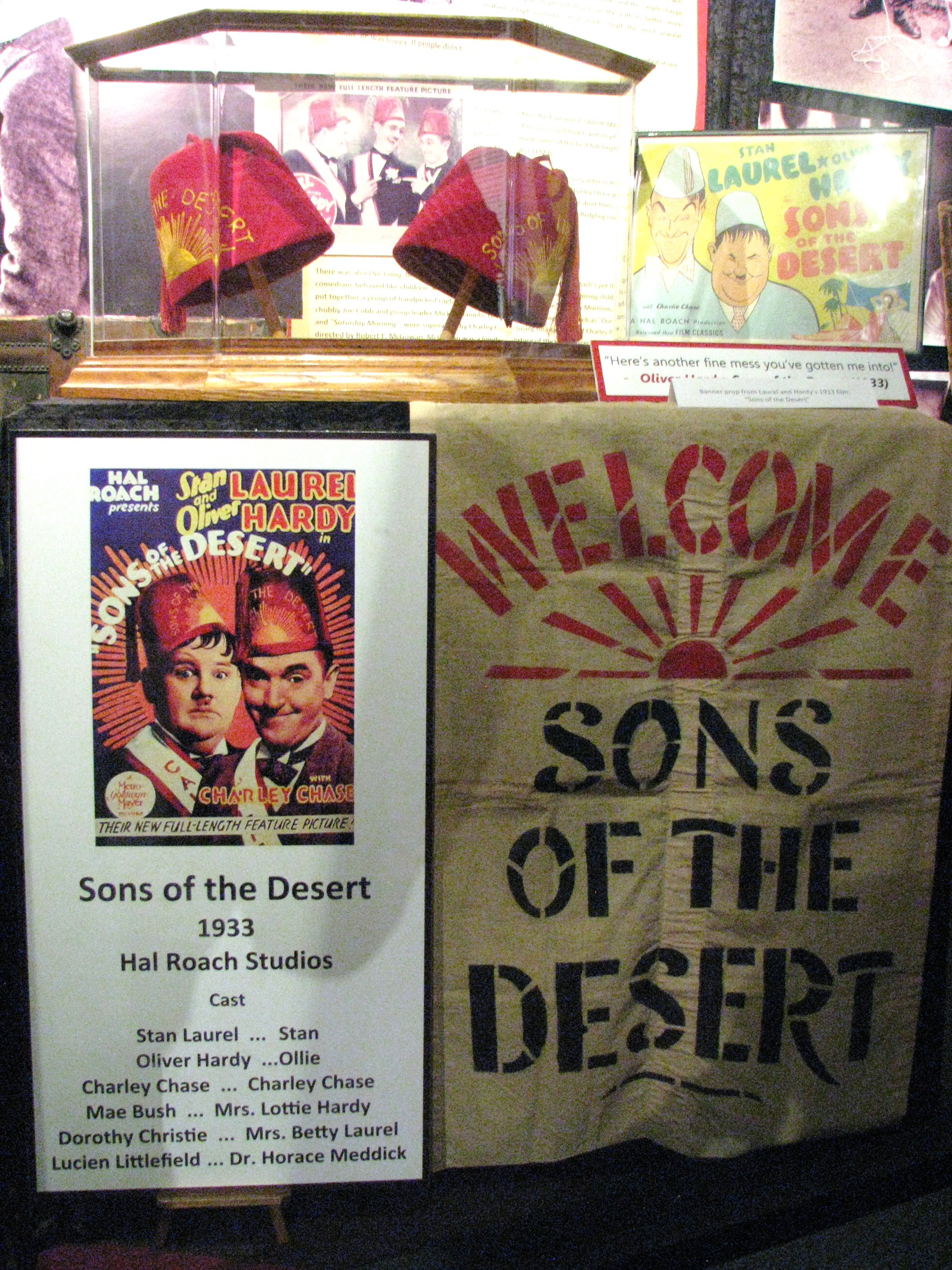 The Sons of the Desert display