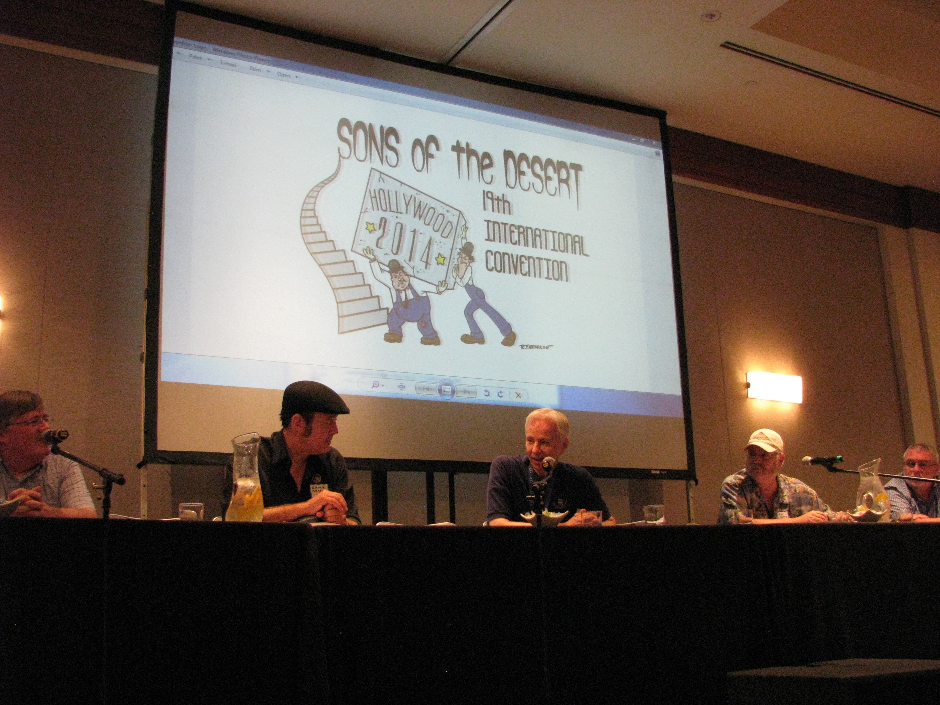 The Authors' Panel was the first event of the day.