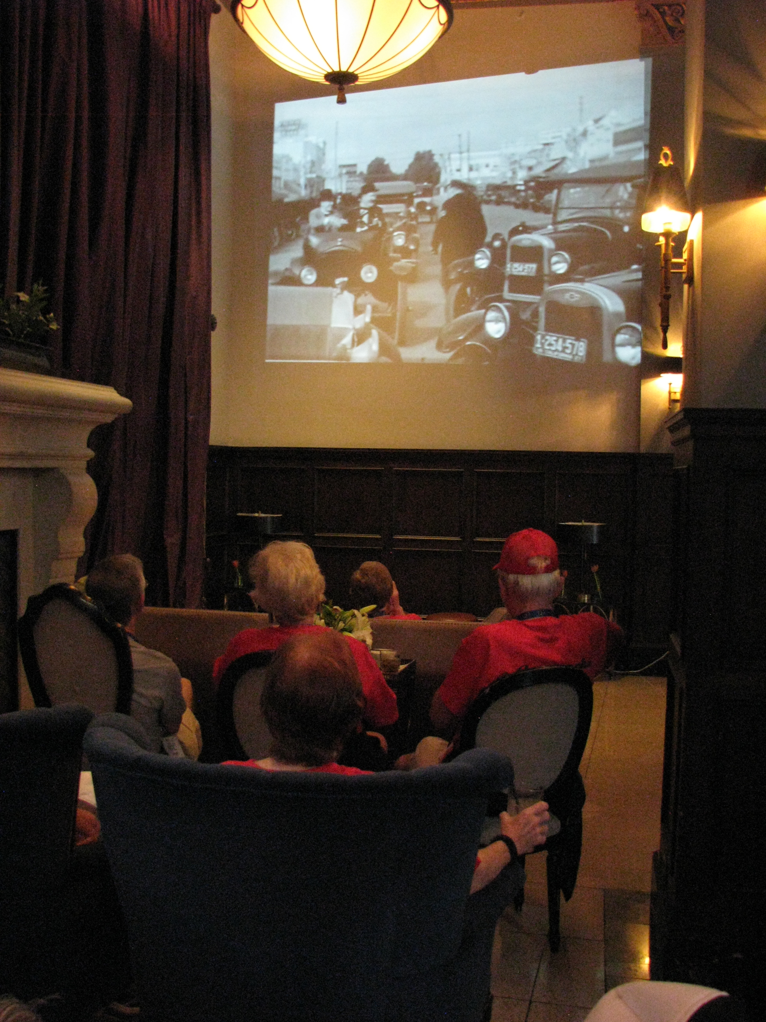 ...and the third would enjoy popcorn and drinks and watch films made at the Culver Hotel location!