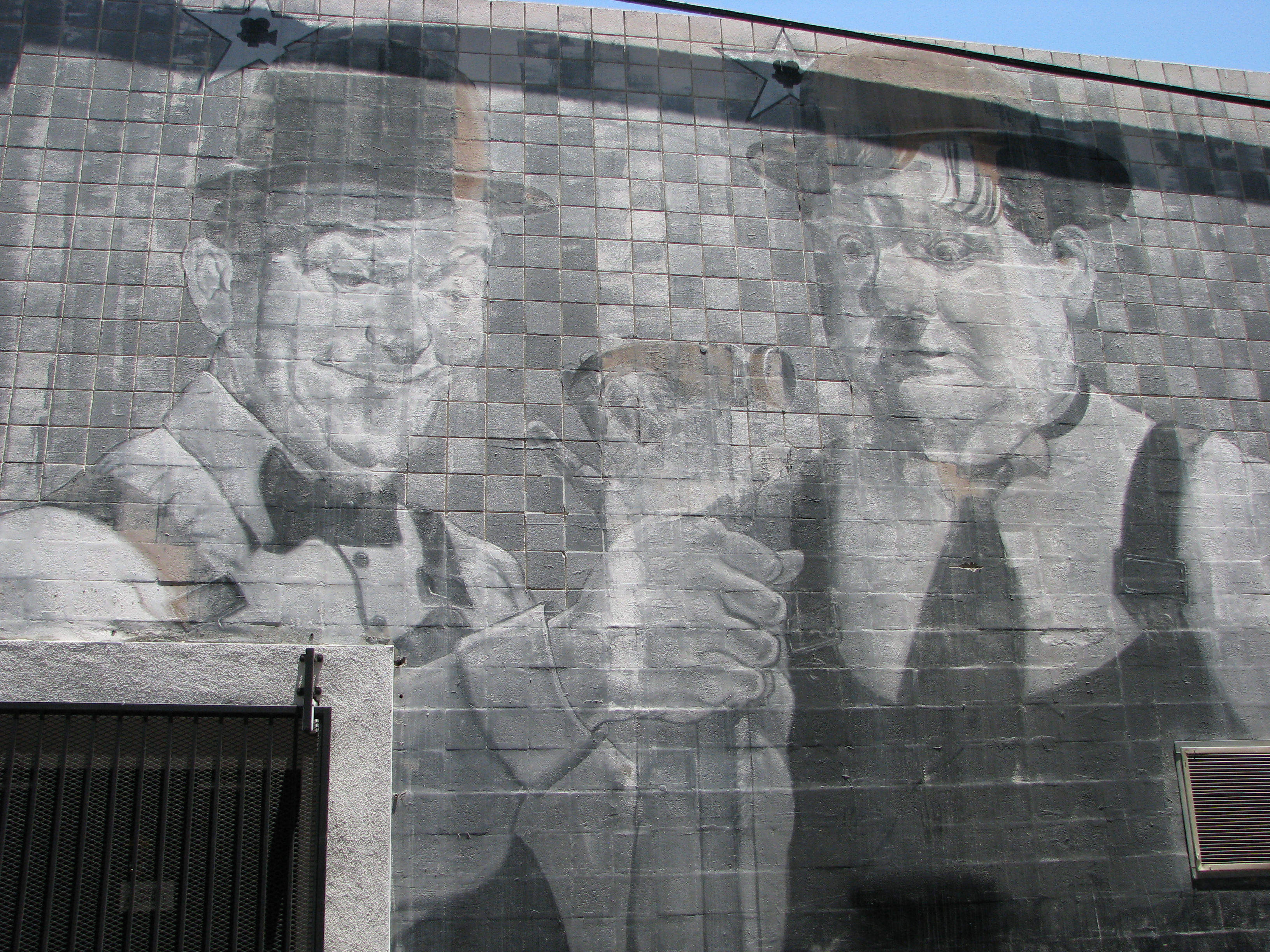 ...the L&H mural on the back side of the former hardware store...
